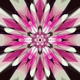Kolorowy pic mozaiki mandala, czerwieni, białego i czarnego kalejdoskop, skutka szkła mozaika ilustracji