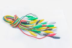 Kolorowy pinceta, wyposażenie, akcesorium, dodatkowe części, dla elektronika i elektryczny na białym tle zdjęcie stock