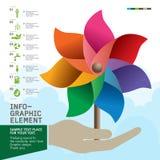 Kolorowy Pinwheel na ręka wektorze Zdjęcie Stock