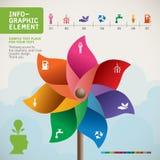 Kolorowy Pinwheel na ręka wektorze Fotografia Royalty Free