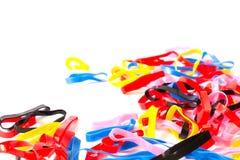 Kolorowy plastikowy zespół Fotografia Royalty Free