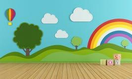 Kolorowy playroom Zdjęcie Royalty Free