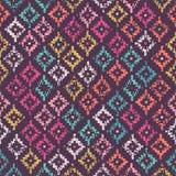 Kolorowy plemienny bezszwowy wzór ilustracji