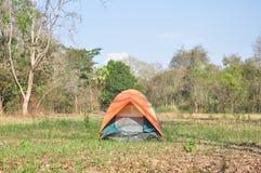 Kolorowy plenerowy namiot Zdjęcia Stock