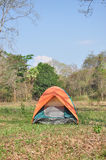 Kolorowy plenerowy namiot Zdjęcia Royalty Free