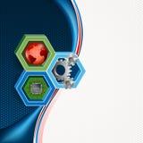 Kolorowy pojęcie dla technologii tła royalty ilustracja