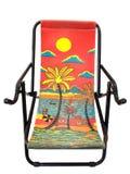 Kolorowy pokładu krzesło Fotografia Royalty Free