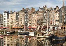 Kolorowy port w ranku Obraz Royalty Free