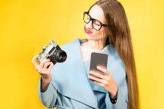 Kolorowy portret żeński fotograf Fotografia Royalty Free