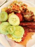 kolorowy posiłek Zdjęcia Royalty Free