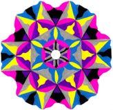 Kolorowy powikłany kurenda wzór obrazy royalty free