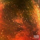 Kolorowy Pozaziemski galaktyki tło z światłem Fotografia Stock