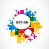 Kolorowy Pozytywny Myślący tło Fotografia Stock