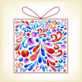 Kolorowy prezenta pudełko Fotografia Royalty Free