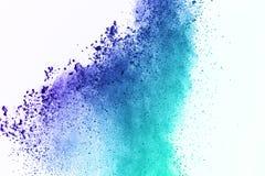 Kolorowy prochowy wybuch na białym tle Kolorowy pył Obrazy Royalty Free
