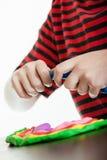 Kolorowy projekt robić chłopiec wzorowanie kit Zdjęcie Stock