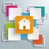 Kolorowy prostokątów kwadratów krzyża dom PiAd Obrazy Stock