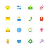 Kolorowy prosty sieci ikony set Fotografia Royalty Free