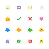 Kolorowy prosty sieci ikony set Obraz Stock