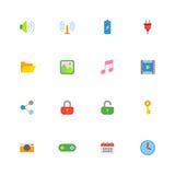 Kolorowy prosty sieci ikony set Obraz Royalty Free