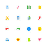 Kolorowy prosty sieci ikony set Zdjęcie Royalty Free