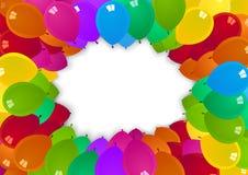 Kolorowy przyjęcie szybko się zwiększać na białym tle ilustracji