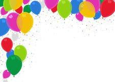 Kolorowy przyjęcie Szybko się zwiększać tło z confetti ilustracji