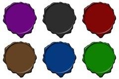 kolorowy pusty pieczęć wosk Zdjęcie Stock