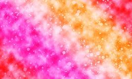 Kolorowy różowy pomarańczowej czerwieni bokeh kropkuje tekstury tło royalty ilustracja