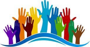 Kolorowy ręka logo ilustracji