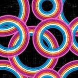 Kolorowy retro grunge tło - wektor bezszwowy Zdjęcia Royalty Free