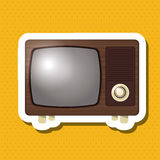 Kolorowy retro tv projekt, wektorowa ilustracja Zdjęcie Stock