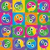 Kolorowy robot kolekci wzór Obraz Royalty Free