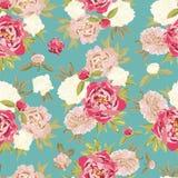 Kolorowy rocznika wzór z kwiecistym ornamentem Obraz Stock