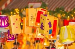 Kolorowy, rozjarzony lampion, Zdjęcia Royalty Free