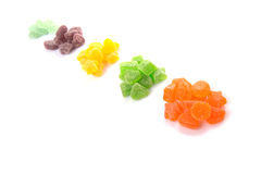 Kolorowy rozsypisko cukier galarety cukierek VII Zdjęcie Royalty Free