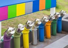 Kolorowy rurociąg paliwa przekazu olej podziemni paliwowi składowi zbiorniki Zdjęcia Royalty Free