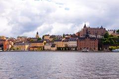 Kolorowy rząd domy Sztokholm obrazy royalty free