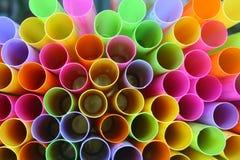 Kolorowy słomy światło Fotografia Stock