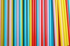 Kolorowy słomy tło Zdjęcia Stock