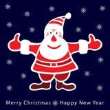 Kolorowy Santa Claus na zmroku - błękitny tło Fotografia Stock