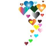 Kolorowy serc unosić się Fotografia Stock
