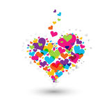 kolorowy serce Zdjęcie Royalty Free