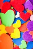 Kolorowi serca zdjęcia stock