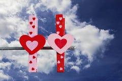 Kolorowy serce z niebieskim niebem Obraz Royalty Free