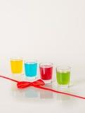 Kolorowy set napoje, koloru napój, czerwień, żółty błękit, zieleń, col Obraz Royalty Free
