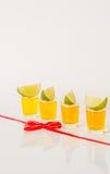 Kolorowy set napoje, koloru napój dekorował z wapno, kolor Zdjęcie Royalty Free