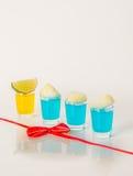 Kolorowy set napoje, koloru napój dekorował z wapno, kolor Obraz Royalty Free