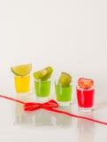 Kolorowy set napoje, koloru napój dekorował z wapno, kolor Zdjęcie Stock