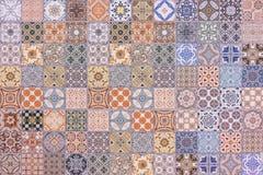 Kolorowy set ornamentacyjne płytki obraz stock